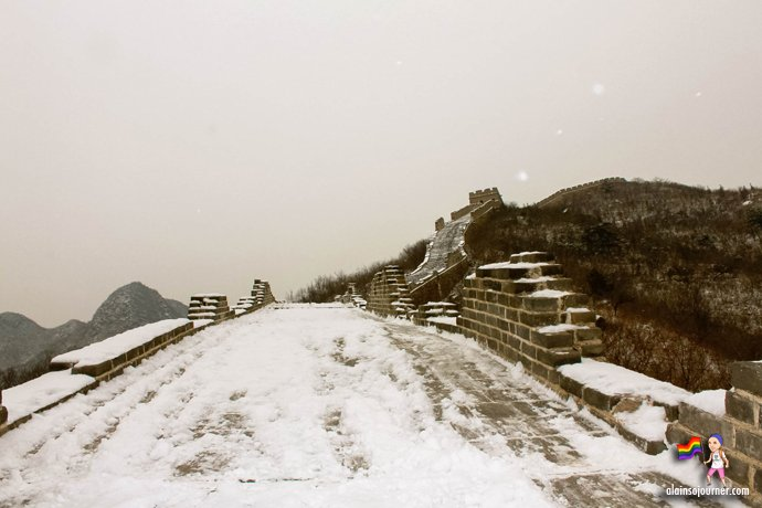 Great Wall in Winter Huanghuacheng China