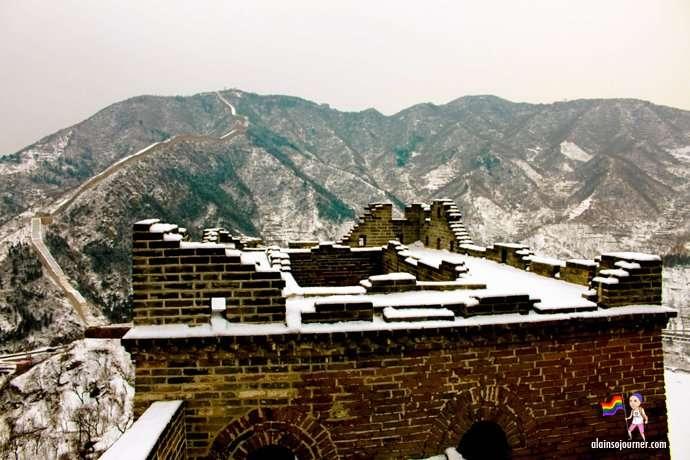 Great Wall in Winter Huanghuacheng China