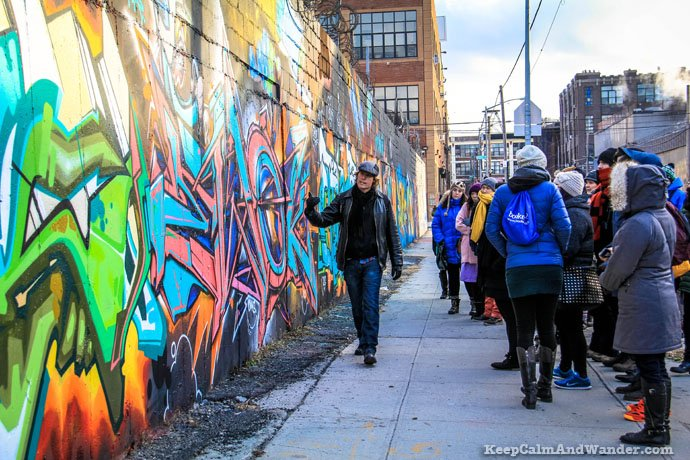 Grafitti and Bushwick Collective Tour in Brooklyn, New York.