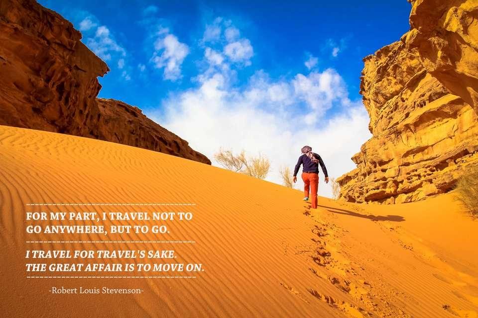 Robert Louis Stevenson  Travel Quote