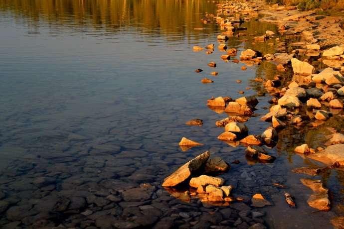 Sunset at Cyprus Lake Camping Ground Bruce Peninsula Tobermory