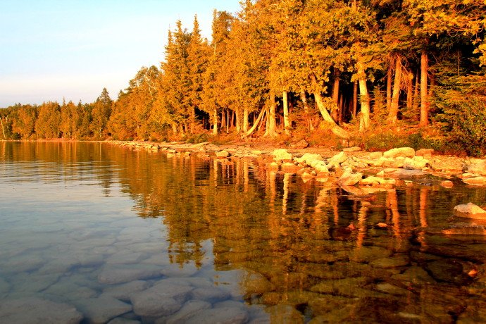 Sunset at Cyprus Lake Campsite