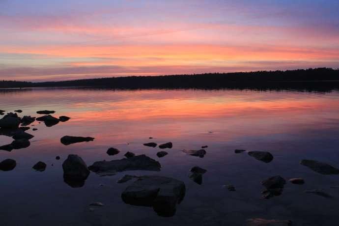 sunset at cyprus lake
