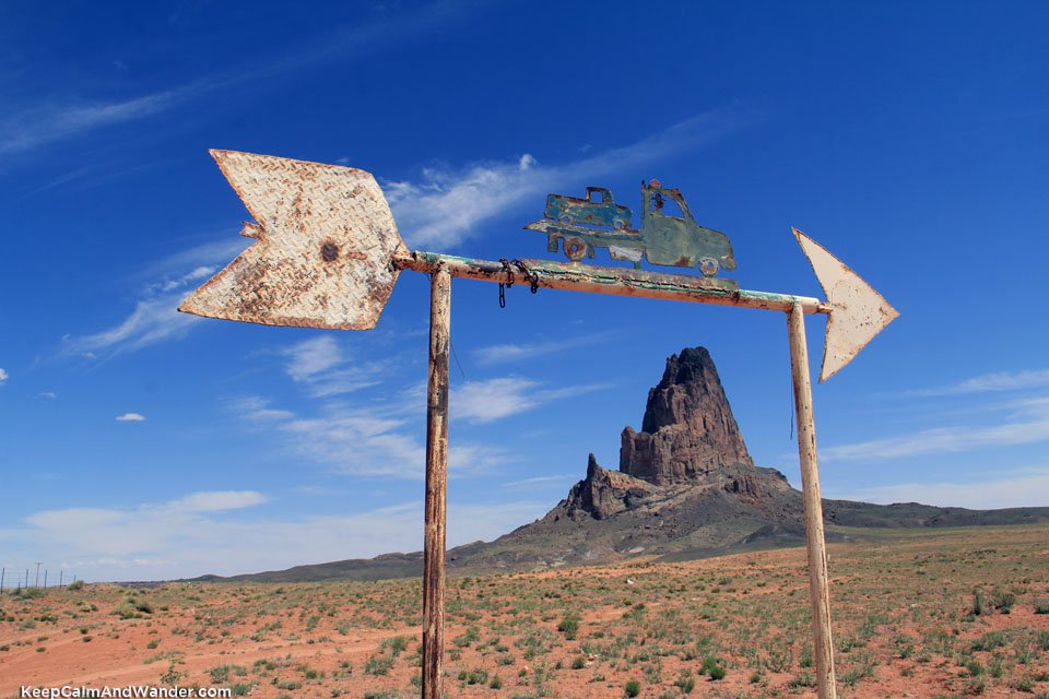Agathola is a volcanic neck. We stopped by here on out way to the Monument Valley.