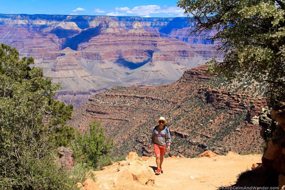 Bright Angel Trail at the Grand Canyon.
