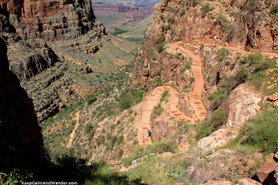 Jacob's Ladder at the Bright Angel Trail, Grand Canyon.