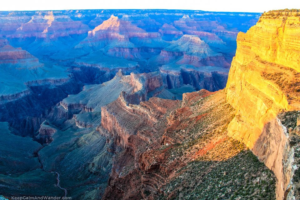 Sunset at the Grand Canyon, Hopi Point.