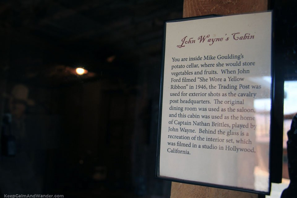 This is John Wayne's cabin used for his movie SSHE WORE A YELLOW RIBBON at Goulding's Lodge in Monument Valley.