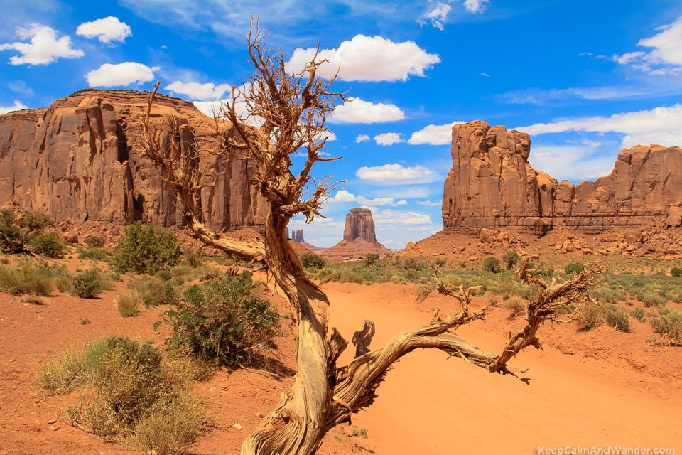 The window to the East at the Monument Valley in Arizona.