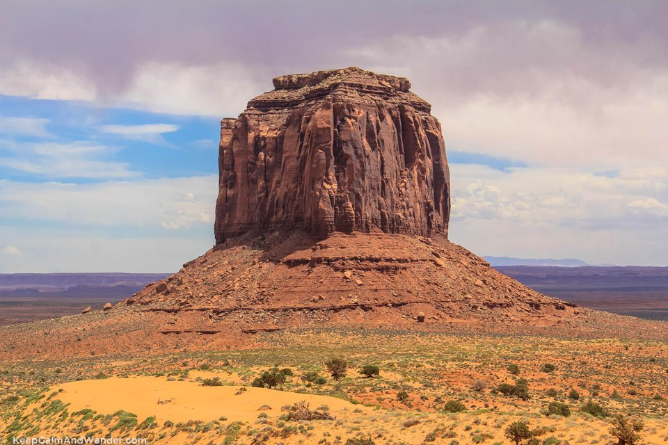 Merick Butte at the Monument Valley Navajo Tribal Park in Arizona.