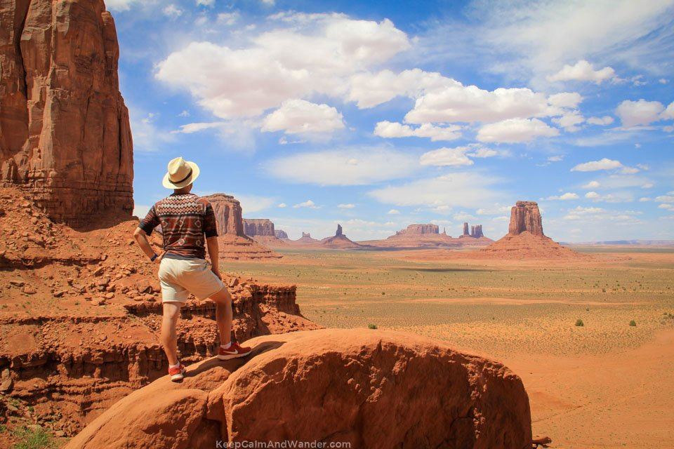 The Artist's Point at the Monument Valley Navajo Tribal Park in Arizona.