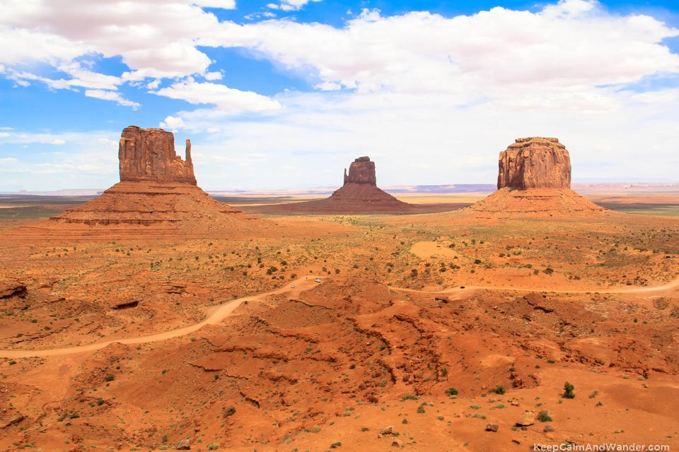 The monuments of Monument Valley.