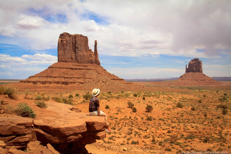 The West mitten at Monument Valley Navajo Tribal Park.
