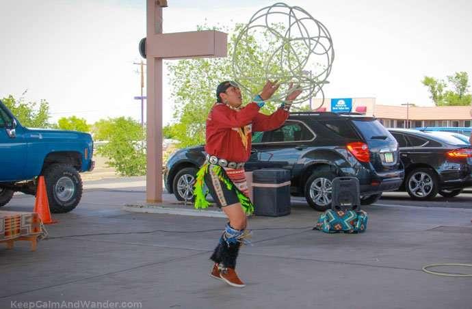 The Native American / Indian-Navajo Hoop Dance at Page, Arizona.