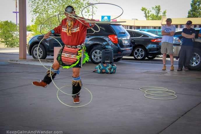 The Native American Hoop Dance at Page, Arizona.