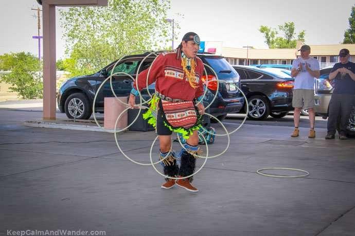 The Indian-Navajo Hoop Dance at Page, Arizona.