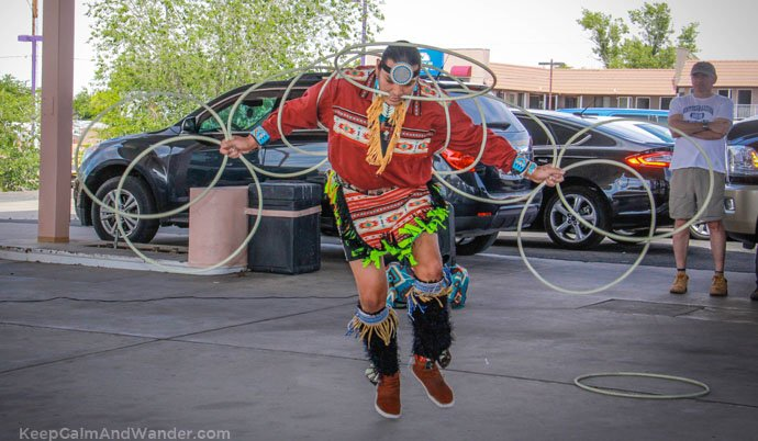The Native American Hoop Dance at Page, Arizona.