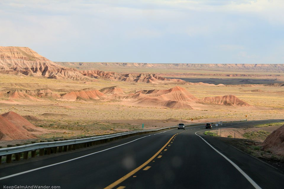 The Spanish skirt on our way back from Monument Valley.