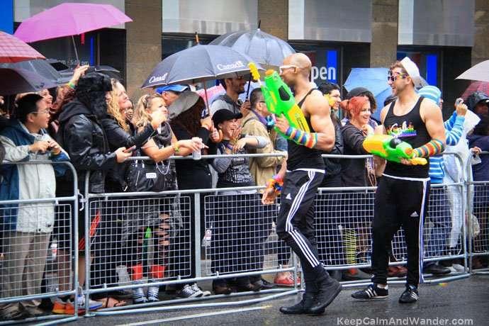 The rain didn't dampen the enthusiasm at Toronto Pride Parade 2015.