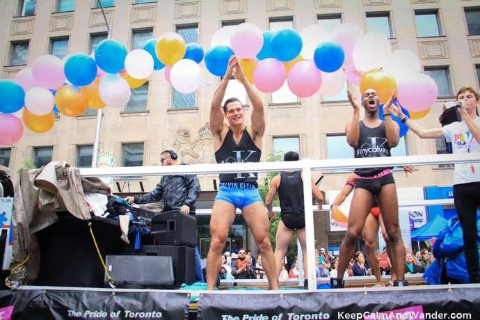 Calvin Klein at Toronto Pride Parade 2015.
