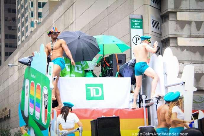 TD Boys at 2015 Toronto Pride Parade.