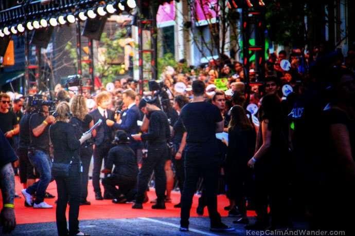 Ed Sheeran arriving at MMVA 2015 red carpet in Toronto on June 21, 2015.