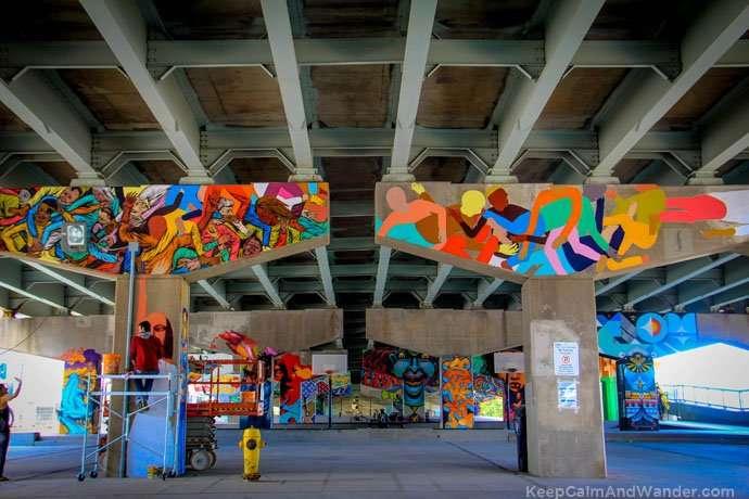 Underpass Park in Toronto.