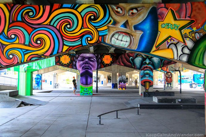 These murals on the pillars of Gardiner Expressway is a brilliant idea of turning urban spaces into creative pursuits.