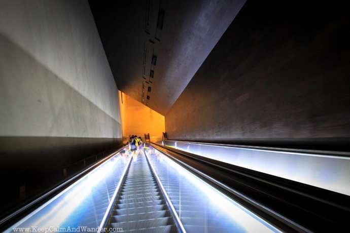 Inside the 911 Memorial Museum in New York.