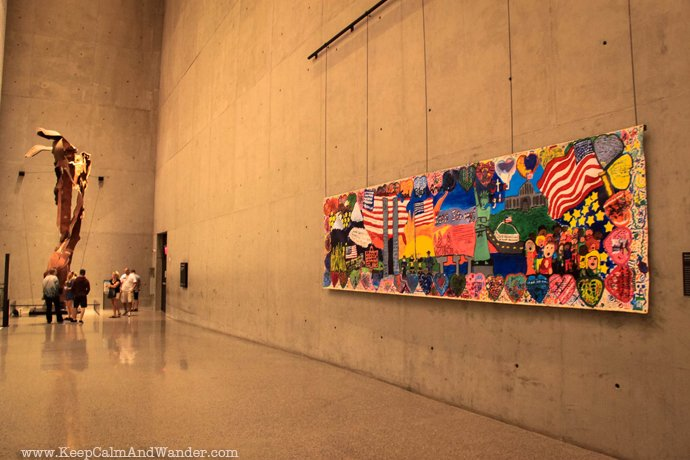 Inside the 911 Memorial and Museum in New York.