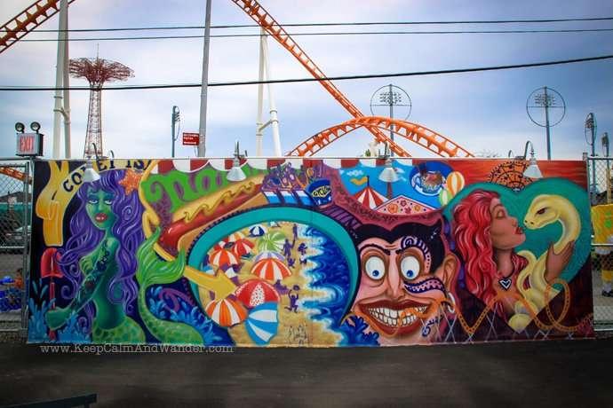 Coney Island Murals in New York.