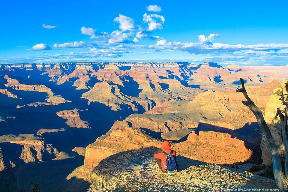 This is the Hopi Point Overlook View of Grand Canyon South Rim.