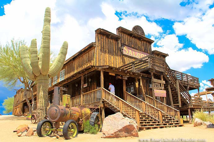 The Mammoth Steak House and Saloon at Goldfield Ghost Town outside Phoenix Arizona.