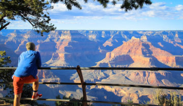 This is the Mohave Point Overlook View of Grand Canyon South Rim.
