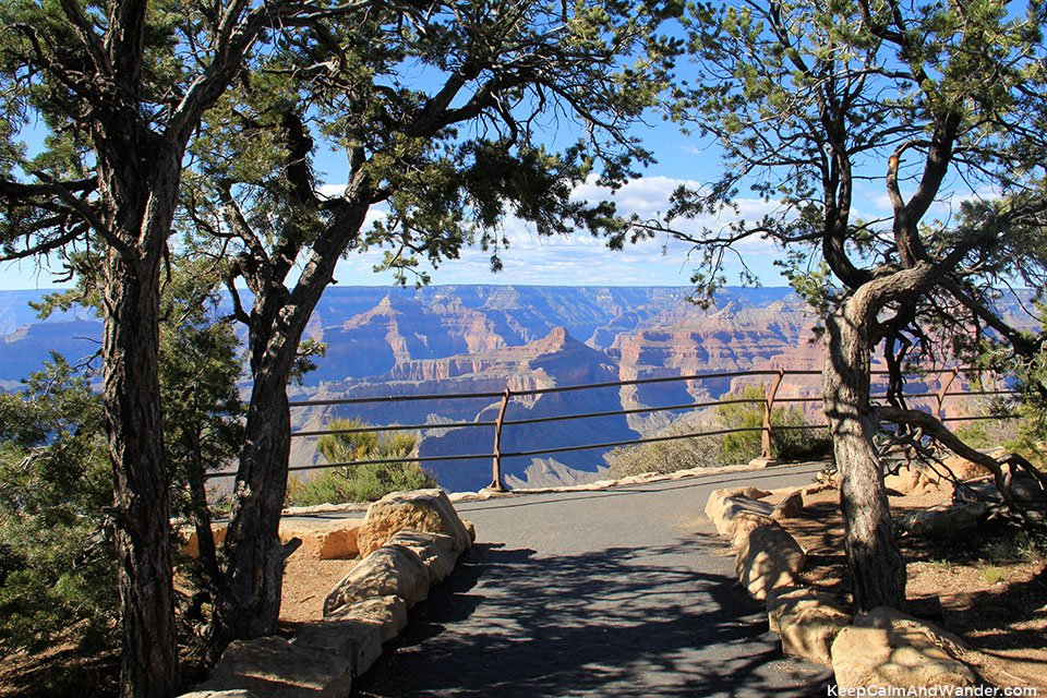 Monument Creek Views of Overlook Points of Grand Canyon South Rim.