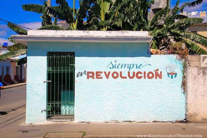 Murals of Propaganda in Cuba.