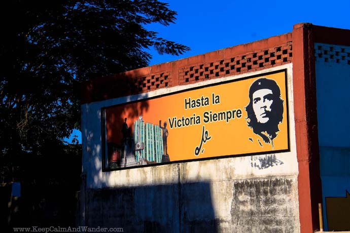 Murals of Propaganda in Cienfuegos, Cuba.