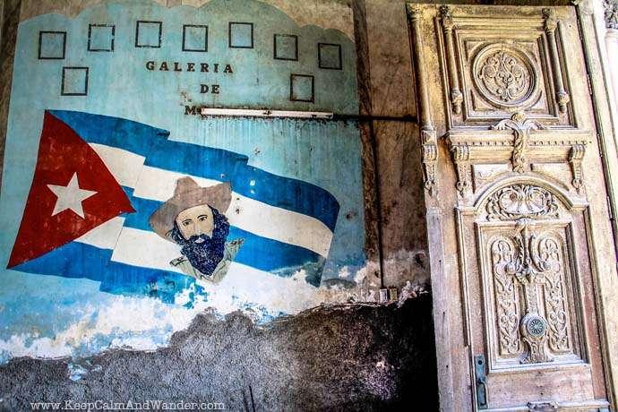 Murals of Propaganda in Havana, Cuba.