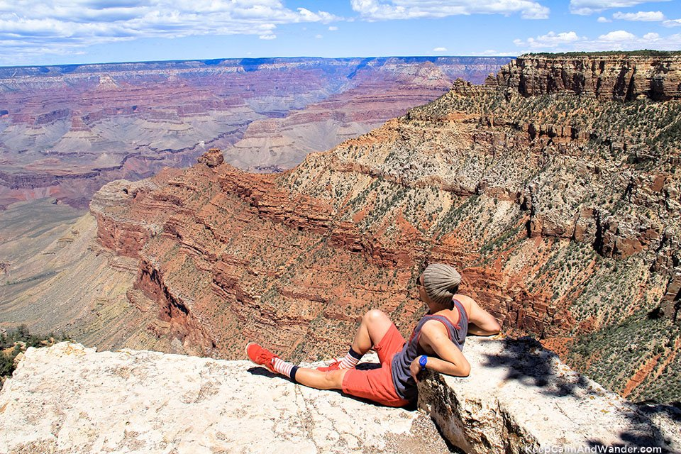 The view at Pipecreek Vista Views of Overlook Points of Grand Canyon South Rim.