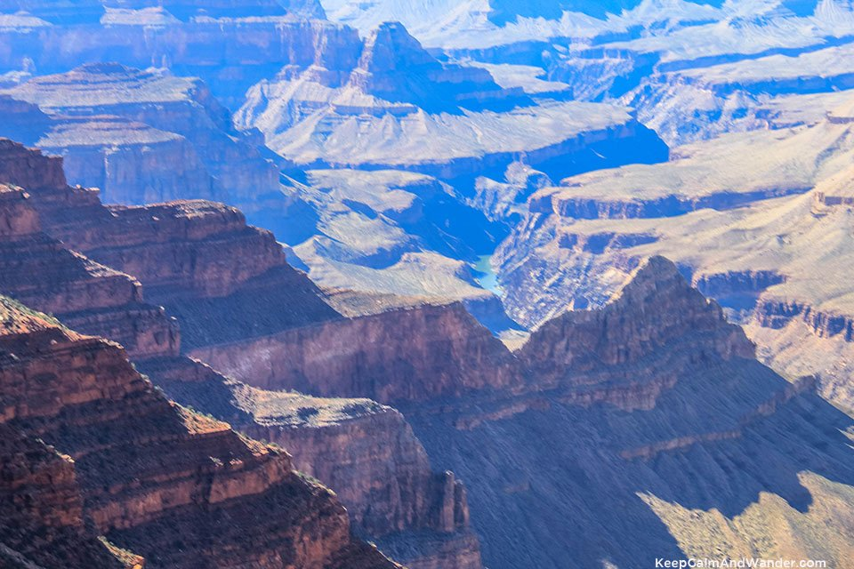 This is The Abyss Overlook View of Grand Canyon South Rim.