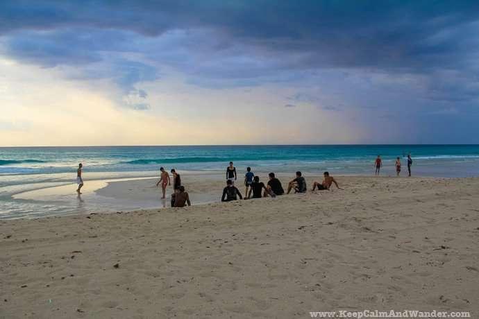 Varadero beach in Cuba.