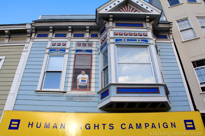 Castro Gay Village Harvey Milk House San Francisco California