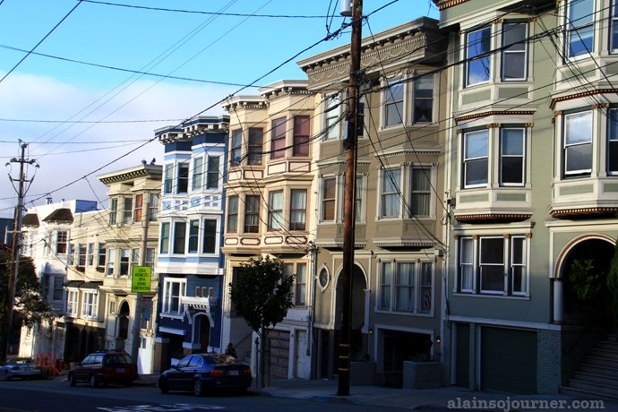The houses in Castro Street in San Francisco.