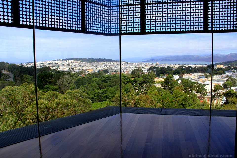 View of San Francisco Panorama Skyline from De Young Museum.