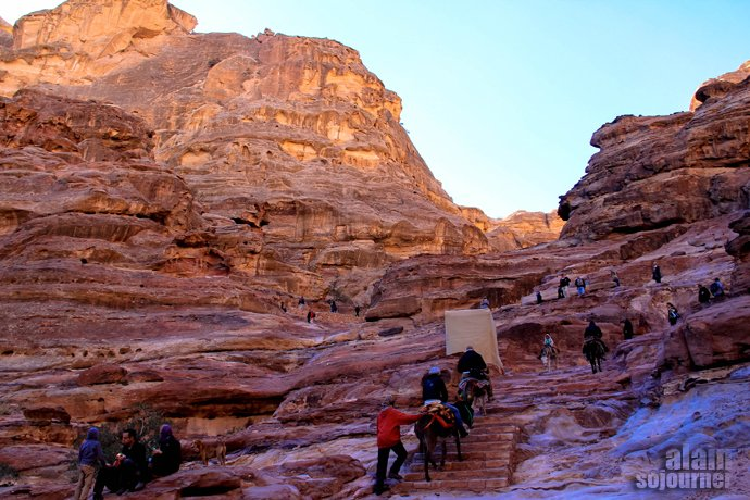 The Monastery or Little Petra in Jordan