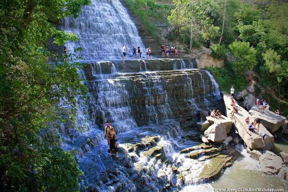 Albion Falls in Hamilton, Ontario.