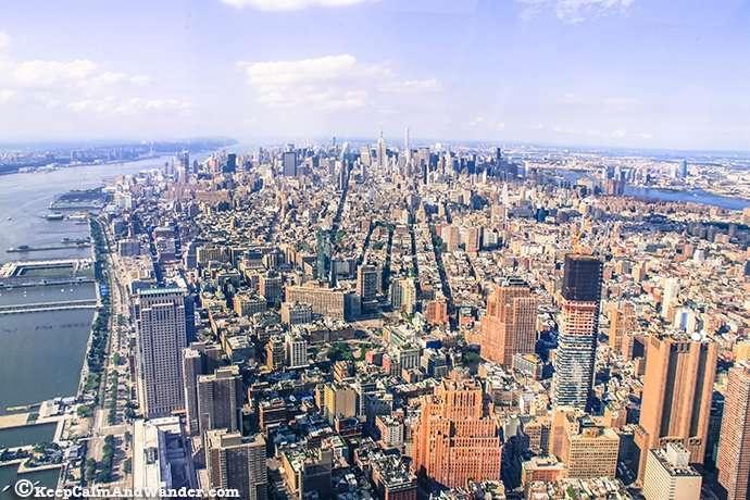 New York Skyline One World Tower Observatory Deck.