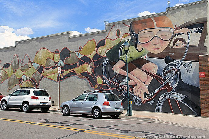 Murals in Flagstaff, Arizona.