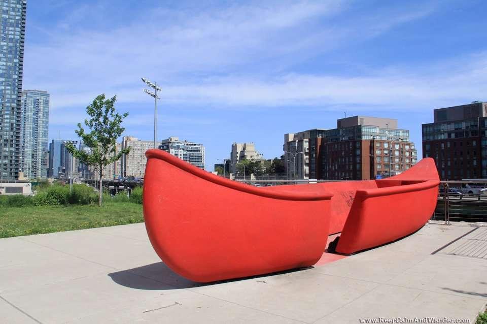 Canoe Landing Park in Toronto.