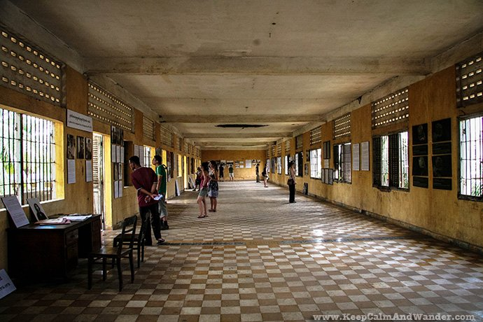 Tuol Sleng Genocide Museum in Phnom Penh, Cambodia.